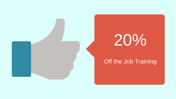 20% Off the Job Training
