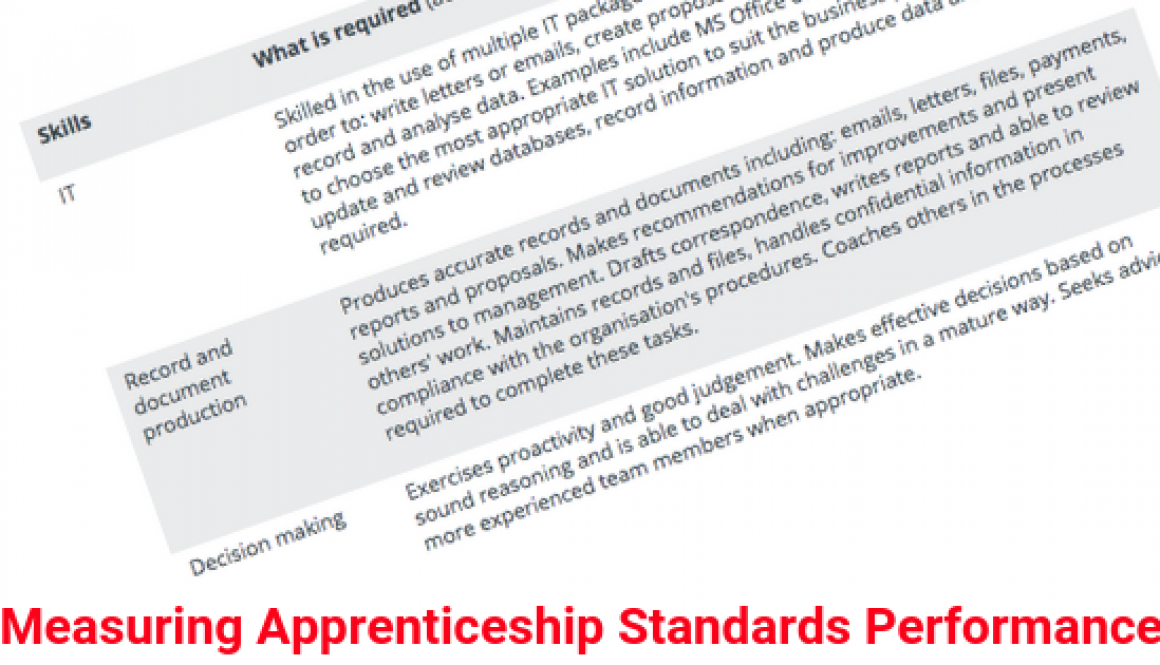 Measuring Apprenticeship Standards Performance