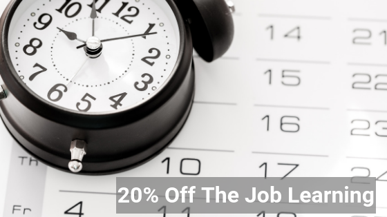 20% off the job learning