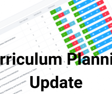 Curriculum Planning Update