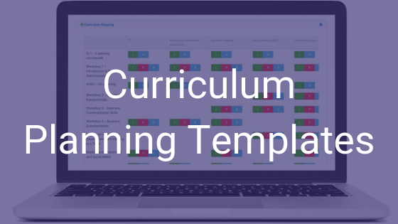 Curriculum Planning Templates