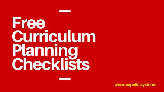 free curriculum planning checklists
