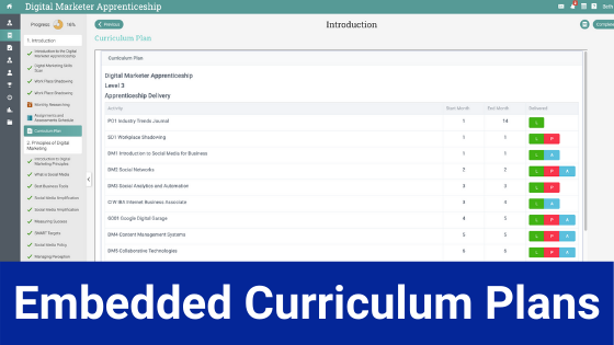 Embedded Curriculum Plans