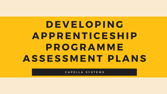 developing apprenticeship programme assessment plans